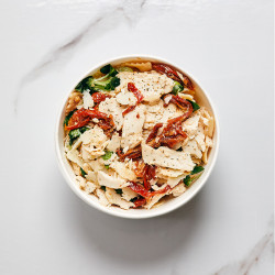 Pasta salad with cocktail...
