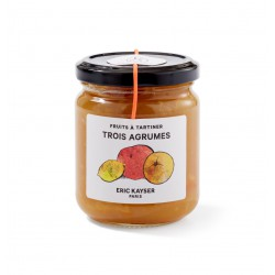 Three citrus fruit spread