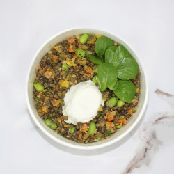 Large lentils, crunchy...