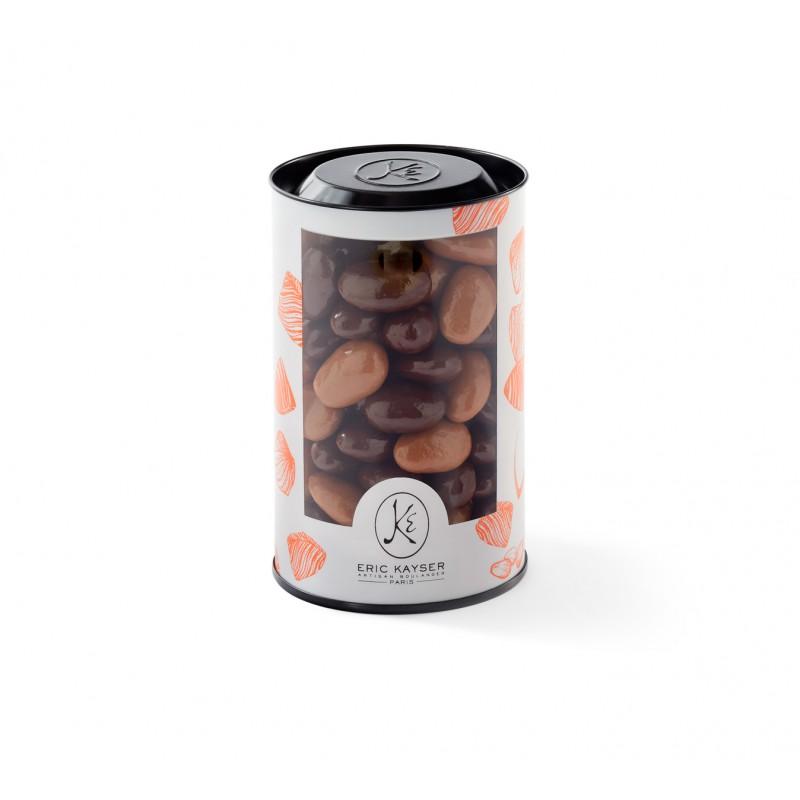tube assortiment d 39 amandes enrob es de chocolat noir et chocolat au lait maison kayser. Black Bedroom Furniture Sets. Home Design Ideas