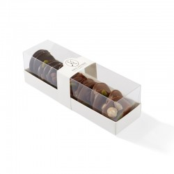 Réglette d'assortiment de mendiants au chocolat noir et lait