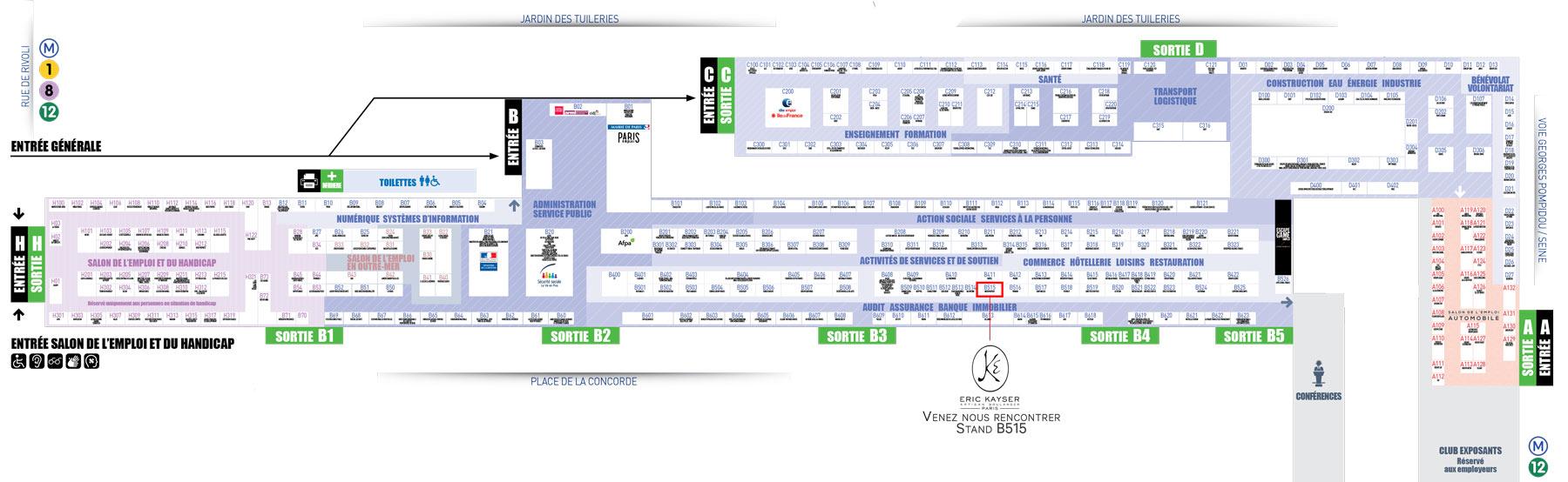 Plan du site Paris pour l'Emploi