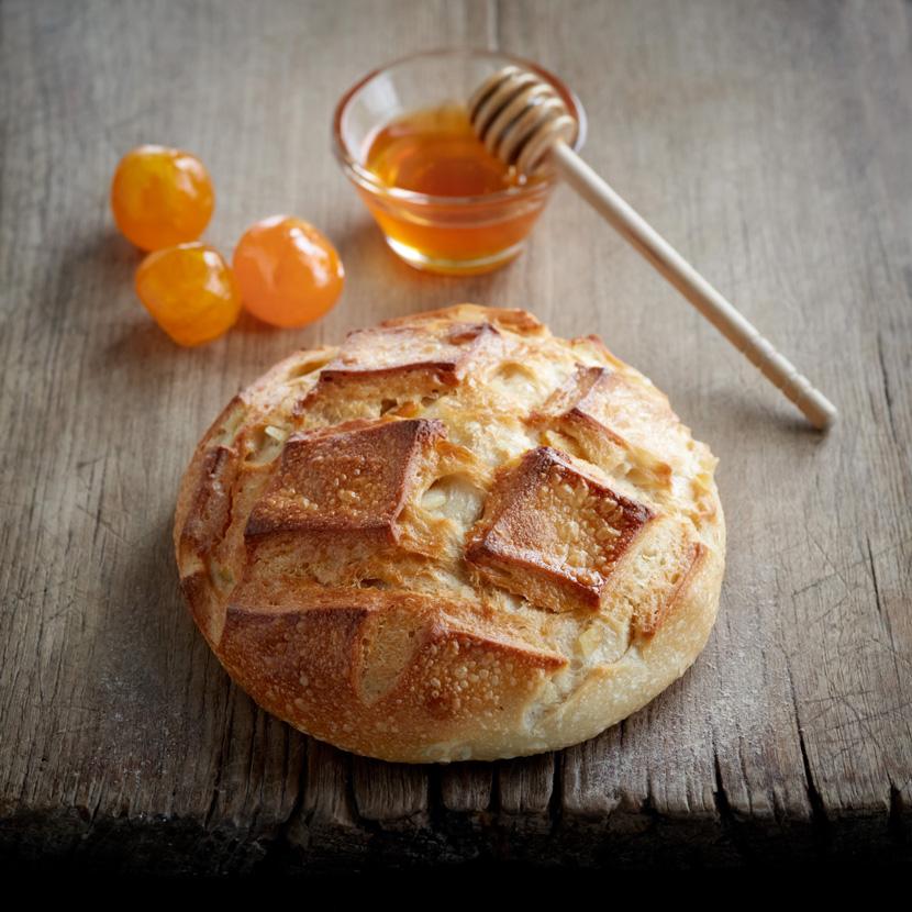 Pain Ekmek au Yuzu, Mandarine et Citron confits, et miel