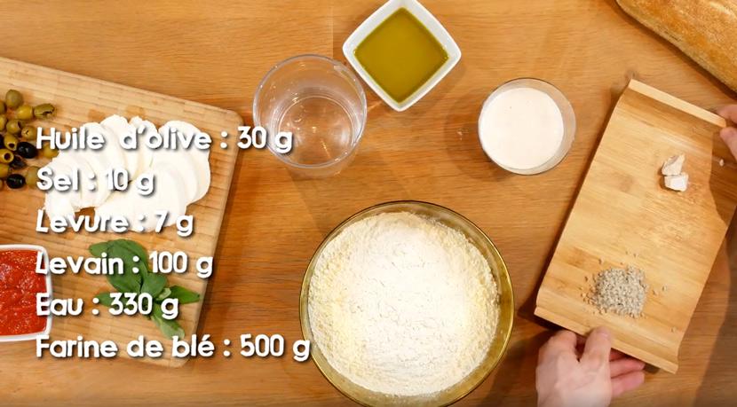 La recette filmée de la ciabatta et de la base pizza