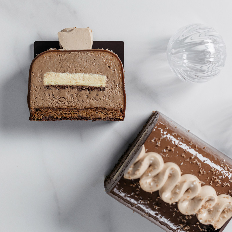 Bûche Eric Kayser au chocolat pour Maison Kayser
