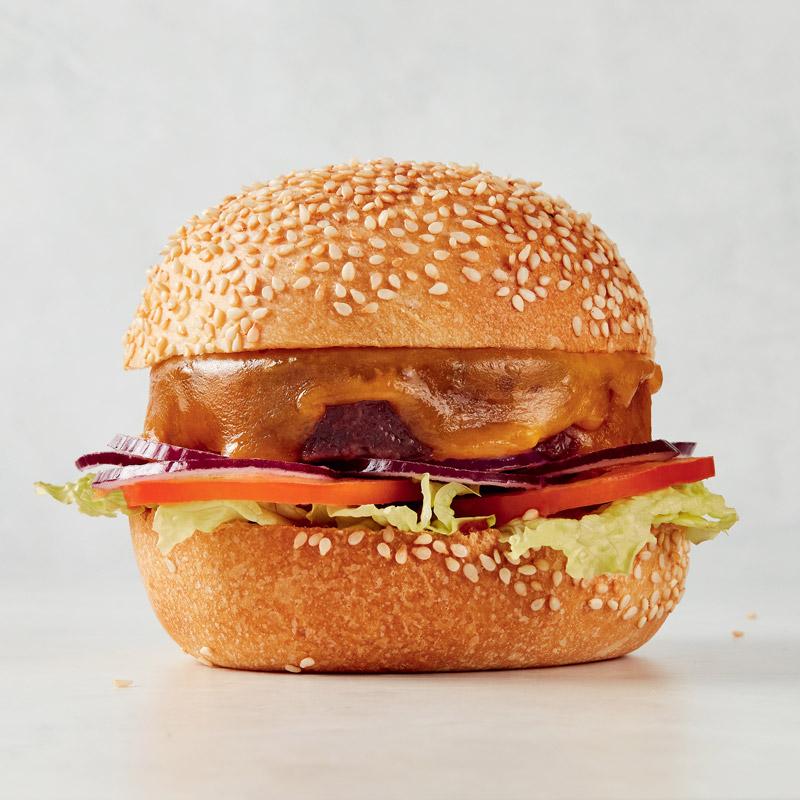 Sandwich burger végétarien
