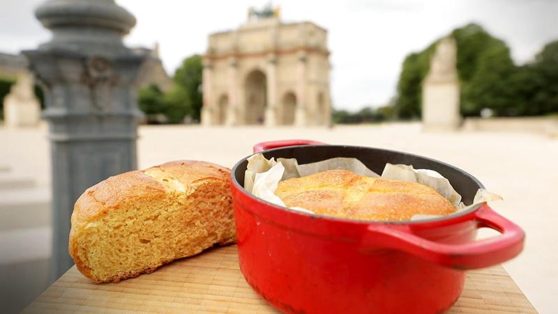 Recette vidéo du pain au maïs en cocotte